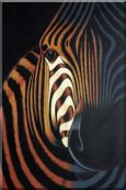 Zebra Oil Painting Animal Decorative 36 x 24 inches