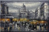 Black and White Washington D.C Cityscape Oil Painting America Impressionism 24 x 36 inches