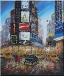 New York Time Square Street Scene Oil Painting Cityscape America Impressionism 24 x 20 inches