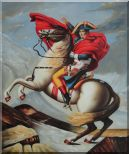 Napoleon Crossing the Alps, Jacques-Louis David Oil Painting Portraits Classic 24 x 20 inches