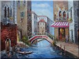 Venice Bridge In Summer Oil Painting Italy Impressionism 36 x 48 inches