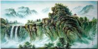 Stretched Scenes from Lafa Mountain Oil Painting Landscape China Asian 24 x 48 inches