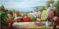 Wonderful Place Oil Painting Mediterranean Classic 24 x 48 inches
