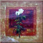 Roses in Brown Abstract Oil Painting Flower Modern 32 x 32 inches