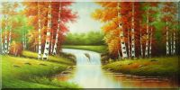 Summer Scenic View  of Nature Wonderland Oil Painting  36 x 72 inches
