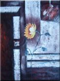 Modern Sunflower Oil Painting Still Life Decorative 40 x 30 inches