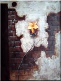 Modern large Yellow Flower Oil Painting Still Life Decorative 40 x 30 inches