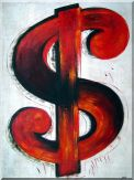 Show Me the Money Oil Painting Nonobjective Modern 40 x 30 inches