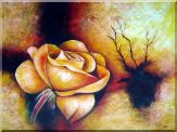 Large Yellow Rose Oil Painting  30 x 40 inches