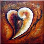 Heart of Love I Oil Painting  30 x 30 inches