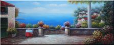 Large Size Mediterranean Resort Painting Oil Painting  28 x 70 inches