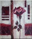 Purple Rose Flower Oil Painting Modern 24 x 20 inches