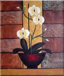 Light Yellow Orchid in Pleasant Background Oil Painting Flower Decorative 24 x 20 inches