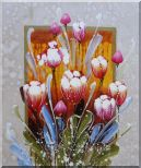 Decorative Colorful Tulips Oil Painting Flower  24 x 20 inches