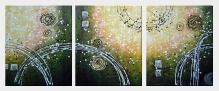 A Joyful Song - 3 Canvas Set Oil Painting Nonobjective Decorative 24 x 60 inches