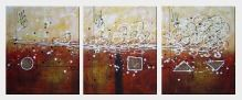 The Goodness of Life - 3 Canvas Set Oil Painting Nonobjective Decorative 24 x 60 inches