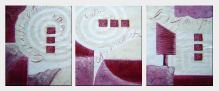 Geometric Composition - 3 Canvas Set  24 x 60 inches