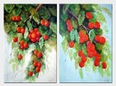 Fruitful - 2 Canvas Set Oil Painting Naturalism 36 x 48 inches