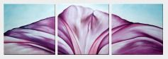 Modern Purple Flower Oil Painting - 3 Canvas Set Decorative 20 x 60 inches