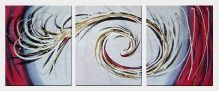 Vortexing Phoenix - 3 Canvas Set Oil Painting Nonobjective Decorative 24 x 60 inches