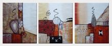 Abstract Decorative Forms - 3 Canvas Set  24 x 60 inches