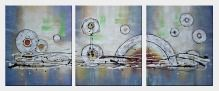 Circular Motion  - 3 Canvas Set  24 x 60 inches