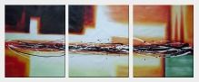 Splendid Light - 3 Canvas Set Oil Painting Nonobjective Decorative 24 x 60 inches