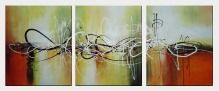 Happy Rhythm - 3 Canvas Set Oil Painting Nonobjective Decorative 24 x 60 inches