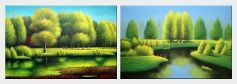 Spring in Jiuzhai Valley - 2 Canvas Set  24 x 72 inches