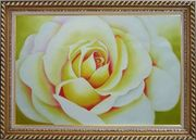 Pink Rose Bud Oil Painting Flower Naturalism Exquisite Gold Wood Frame 30 x 42 inches