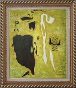 Safer, Romantic Idealism Art Oil Painting Nonobjective Modern Exquisite Gold Wood Frame 30 x 26 inches