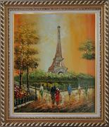 My Wonderful Time At Paris Oil Painting Cityscape France Impressionism Exquisite Gold Wood Frame 30 x 26 inches