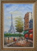 Dreaming of Paris Oil Painting Cityscape France Impressionism Exquisite Gold Wood Frame 42 x 30 inches