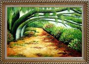 Green Trail Under Old Tree Oil Painting Landscape Spring Naturalism Exquisite Gold Wood Frame 30 x 42 inches