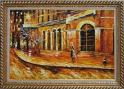 At the Hall Gate Oil Painting Cityscape Modern Exquisite Gold Wood Frame 30 x 42 inches