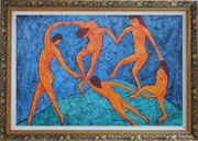 La Danse, Matisse Modern Oil Painting Portraits Woman Dancer Ornate Antique Dark Gold Wood Frame 30 x 42 inches