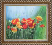 Meadow Dance Oil Painting Flower Modern Exquisite Gold Wood Frame 26 x 30 inches