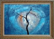 Black Tree in Moonlight Oil Painting Landscape Decorative Exquisite Gold Wood Frame 30 x 42 inches