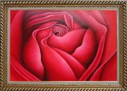 The Beauty of Life Oil Painting Flower Rose Decorative Exquisite Gold Wood Frame 30 x 42 inches