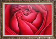 The Beauty of Life Oil Painting Flower Rose Decorative Ornate Antique Dark Gold Wood Frame 30 x 42 inches