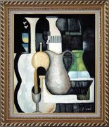 Accords, Instruments Oil Painting Still Life Modern Exquisite Gold Wood Frame 30 x 26 inches