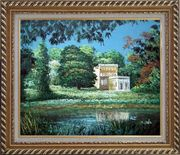 Garden Inspiration Oil Painting Impressionism Exquisite Gold Wood Frame 26 x 30 inches