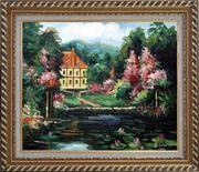 Romantic Shadows Oil Painting Garden Impressionism Exquisite Gold Wood Frame 26 x 30 inches