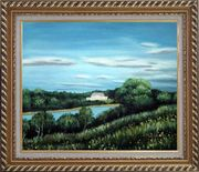 Spring River Oil Painting Landscape Naturalism Exquisite Gold Wood Frame 26 x 30 inches