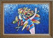 Mermaids And Bird, Picasso Reproduction Oil Painting Portraits Couple Modern Cubism Exquisite Gold Wood Frame 30 x 42 inches