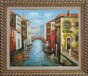 The Afternoon of Venice Oil Painting Italy Naturalism Exquisite Gold Wood Frame 26 x 30 inches