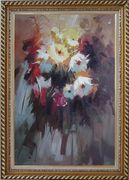 Flowers in Impression Oil Painting Still Life Impressionism Exquisite Gold Wood Frame 42 x 30 inches