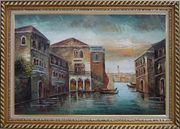 Romantic Venice in my Memory Oil Painting Italy Naturalism Exquisite Gold Wood Frame 30 x 42 inches