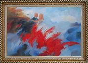 Lover's Dance in the Wind Oil Painting Portraits Couple Impressionism Exquisite Gold Wood Frame 30 x 42 inches