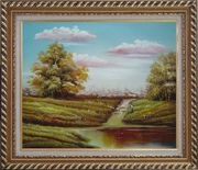 Autumn's Majesty Oil Painting Landscape Naturalism Exquisite Gold Wood Frame 26 x 30 inches
